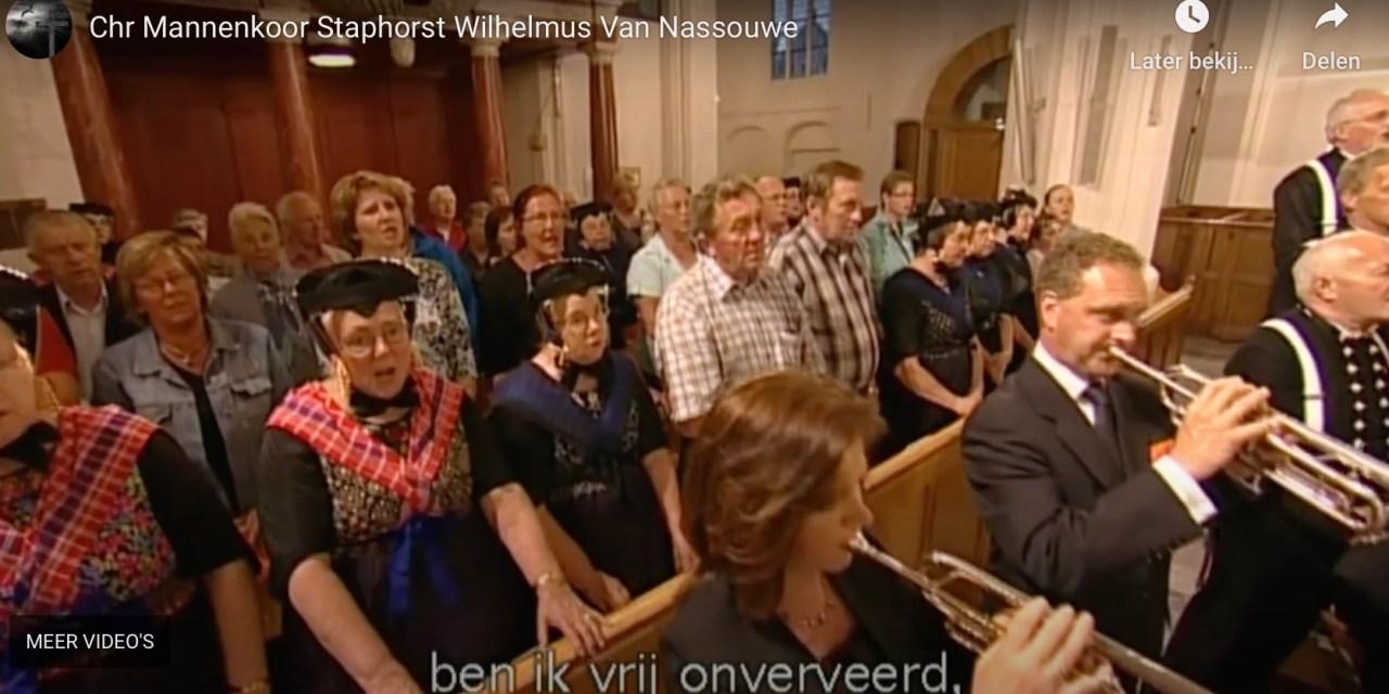 Morgen 14 april, 75 jaar bevrijding, gemeente Staphorst zingt om 19.00 uur massaal het Wilhelmus op straat