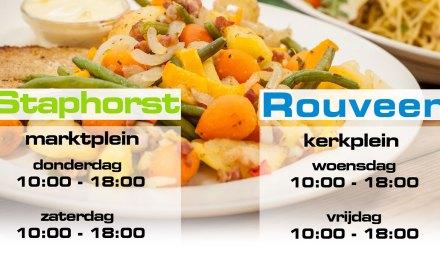 Tijdelijk ivm corona, De Patrijs en Koggel Marktkraam in Staphorst en Rouveen