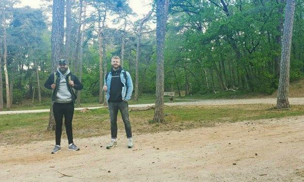 Danny Rook en Mika Flier in 100.000 stappen van Groningen naar Meppel