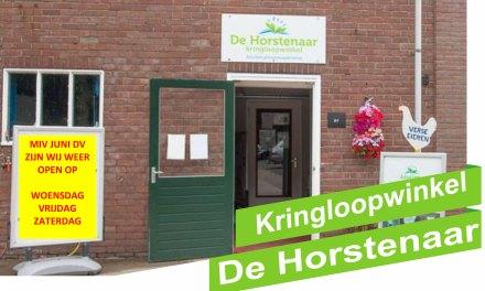 Kringloopwinkel De Horstenaar miv JUNI weer open