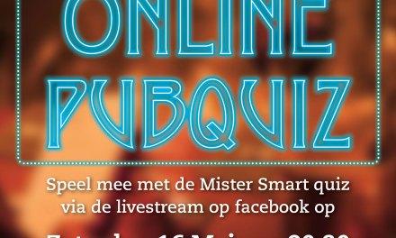 Vanavond weer Online Pubquiz met Mister Smart