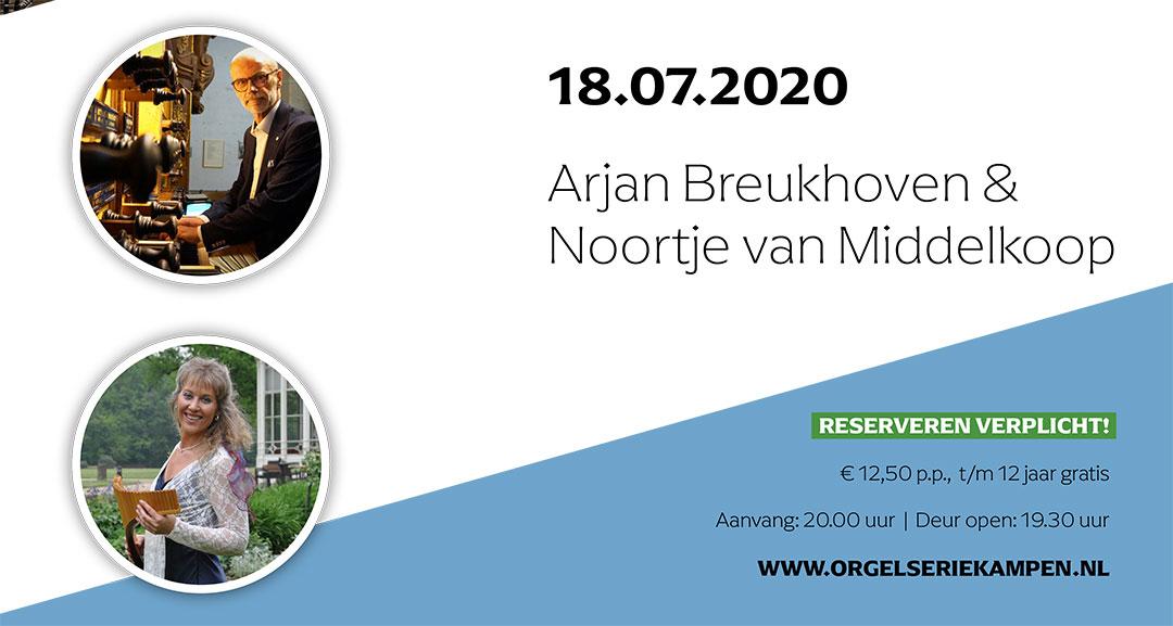 Arjan Breukhoven en Noortje van Middelkoop in Bovenkerk van Kampen