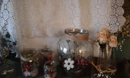 Workshop glas en droogbloemen