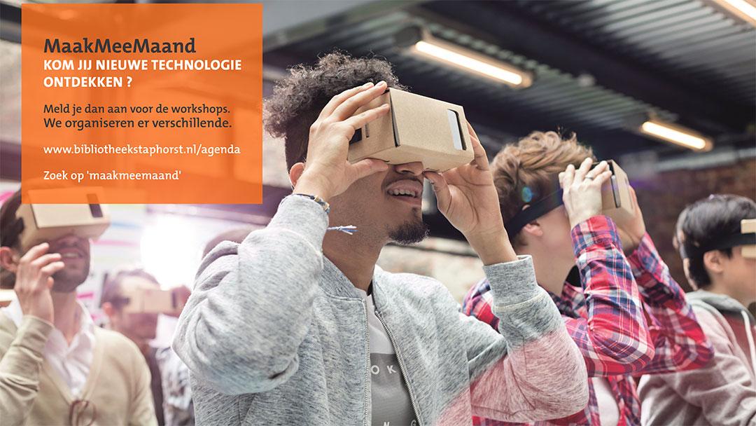 Uitdagende nieuwe media- en techniekworkshops door Tetem in Bibliotheek Staphorst en Buurtstee Rouveen