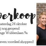 Anno Nu uitverkoop t/m zaterdag 24 oktober