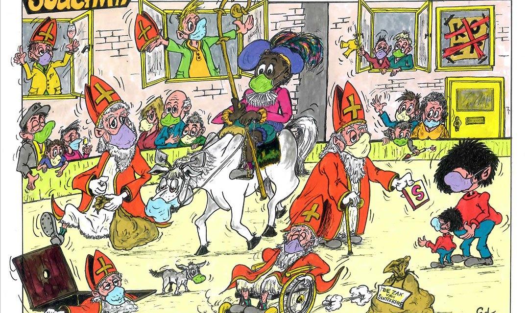 Joachim door Ed Perdok: ..heb ik een geniale oplossing voor het Sinterklaasfeest bedacht.!!..Piet de baas en Sint de knecht, gaat Corona  waarschijnlijk roet..(eh..sorry) een milieuonvriendelijke substantie in het eten gooien..!!…
