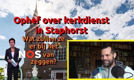 Commotie rondom kerkgang in coronatijd in Staphorst ontzenuwt (video)