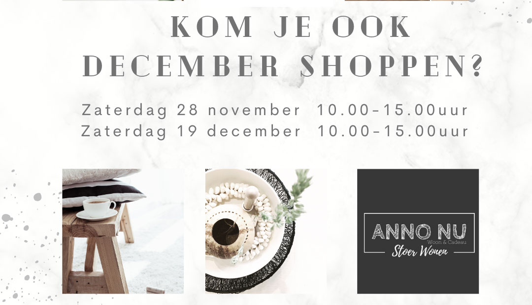December Shoppen bij Anno Nu!