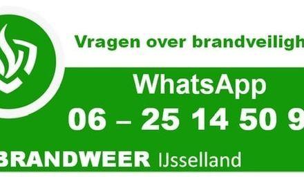 Brandweer IJsselland heeft WhatsApp nummer voor brandveiligheidsvragen