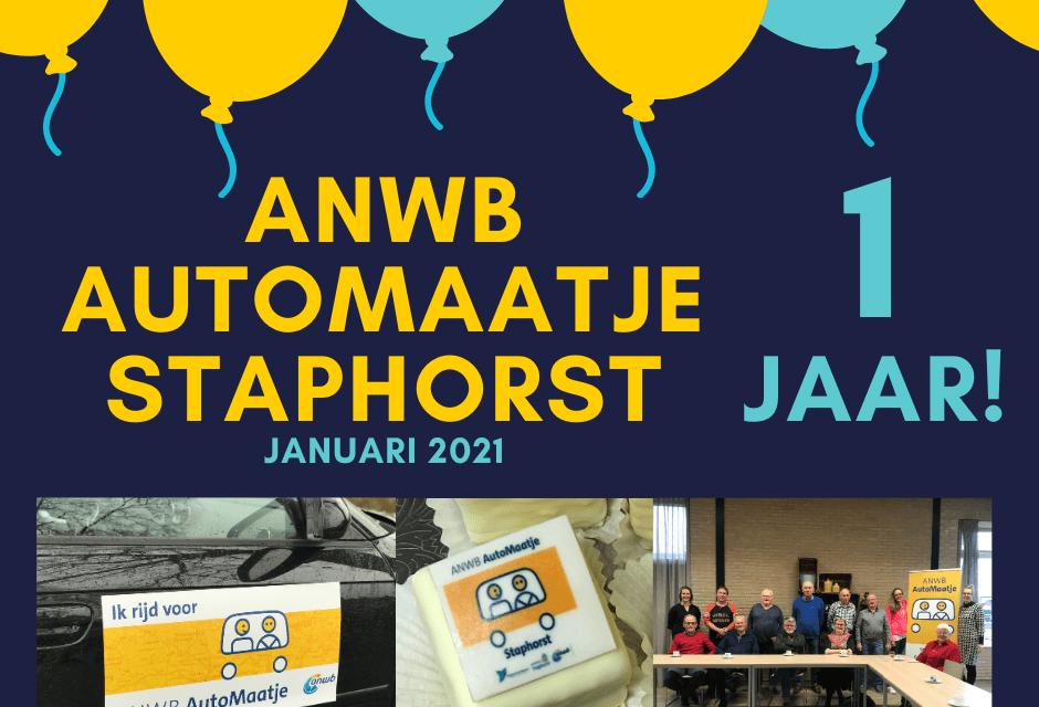 ANWB AutoMaatje Staphorst bestaat een jaar