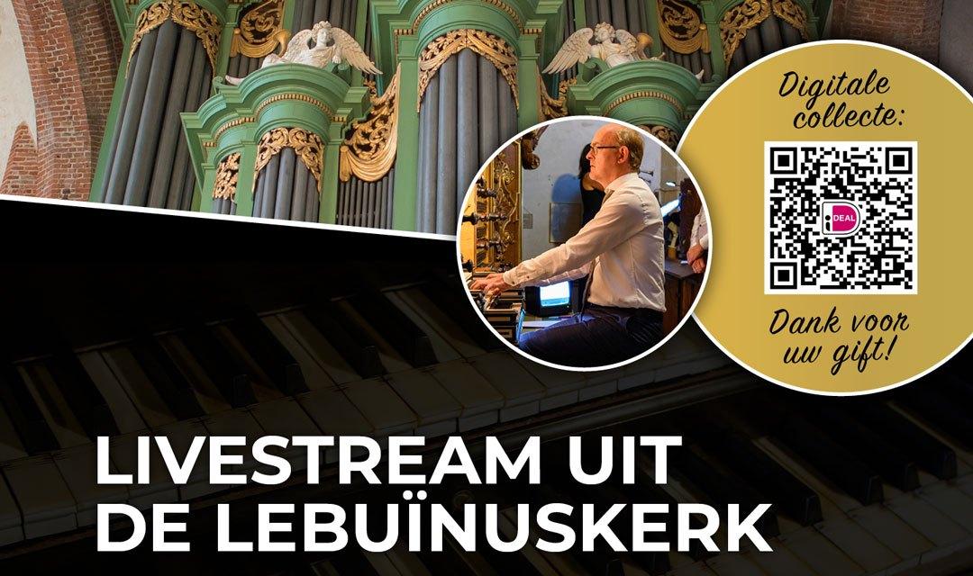 Harm Hoeve bespeelt het orgel van de Lebuinuskerk te Deventer