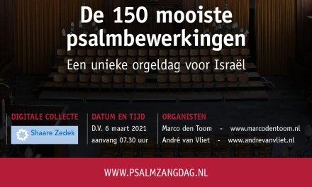 Stichting Psalmzangdag streamt alle psalmen vanuit Den Haag
