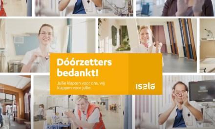 Respect komt van twee kanten: Isala klapt nu voor samenleving met campagne Dóórzetters bedankt!