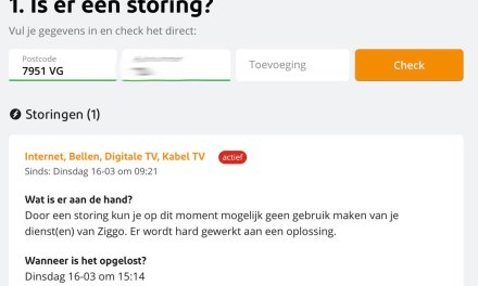 Storing op Ziggo netwerk in Staphorst (Update)