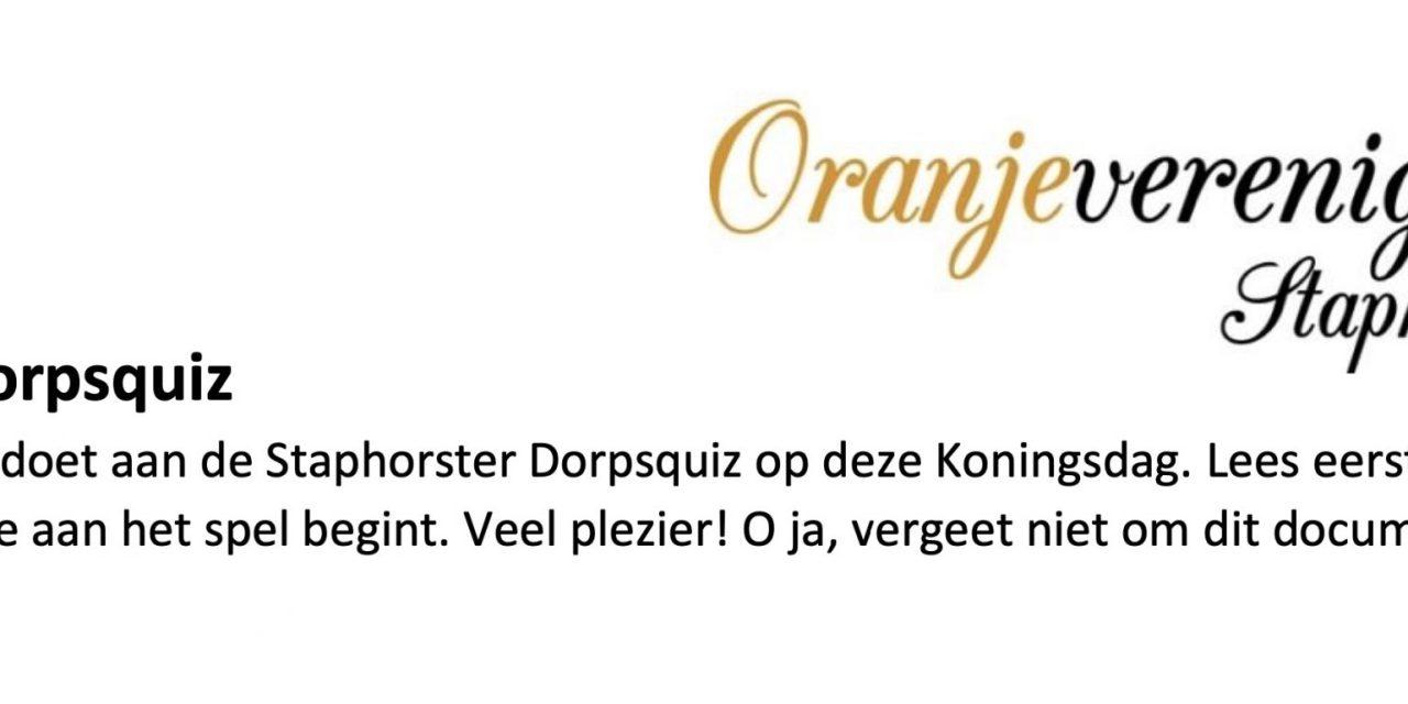 Staphorster Dorpsquiz (speluitleg en omschrijving)