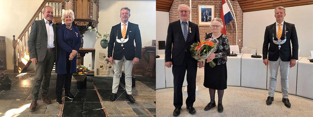 Twee inwoners ontvangen Koninklijke onderscheiding bij lintjesregen