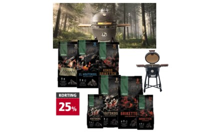 Welkoop Staphorst aanbieding; houtskool, briketten en grizzly grill kamado