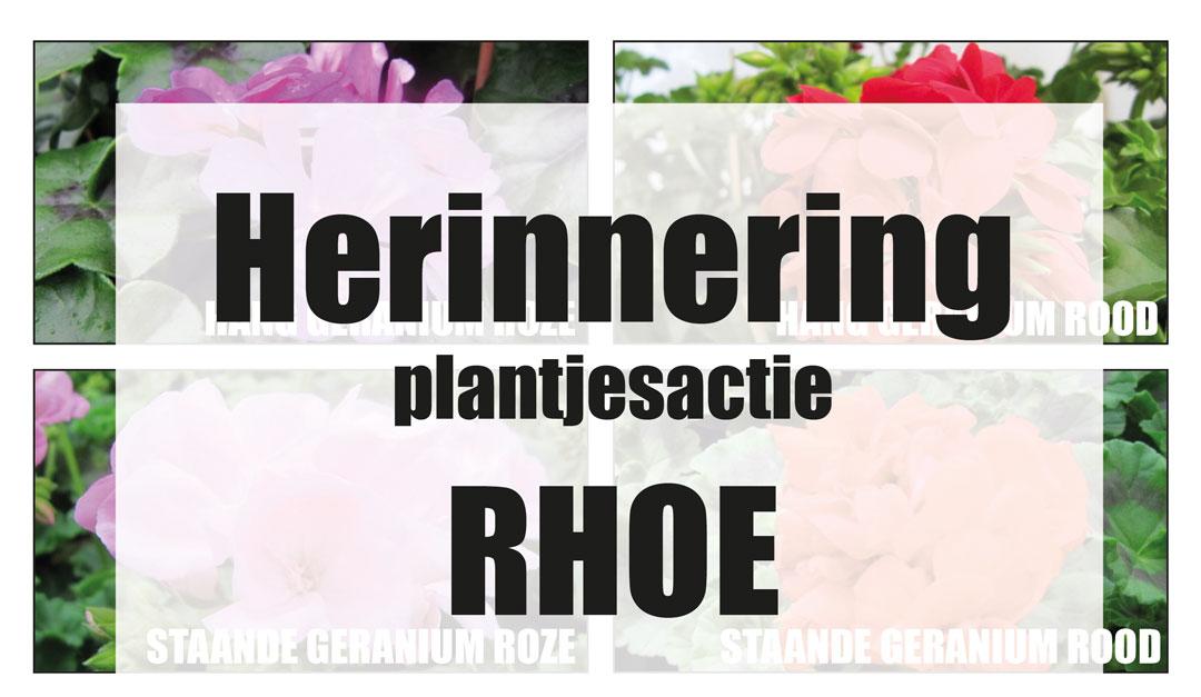 Herinnering Plantjesactie RHOE
