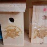 Nestkastjes natuurvereniging voorzien van professioneel gelaserd logo door SG Eekeringe