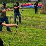 Archery Tag op plein CNS