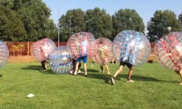 Woensdag 21 juli Bubbelvoetbal