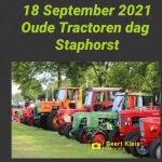 Opgeven oude tractoren show Staphorst weer mogelijk