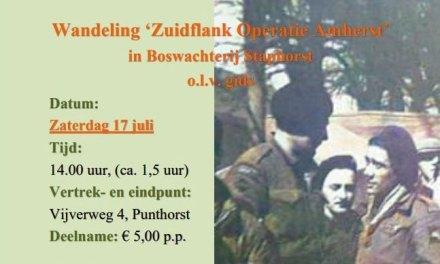 Wandeling 'Zuidflank Operatie Amherst in Boswachterij Staphorst', o.l.v. gids