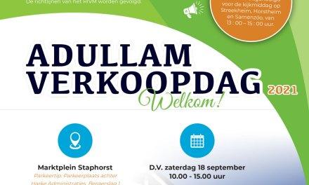 De Adullam verkoopdag komt er weer aan!