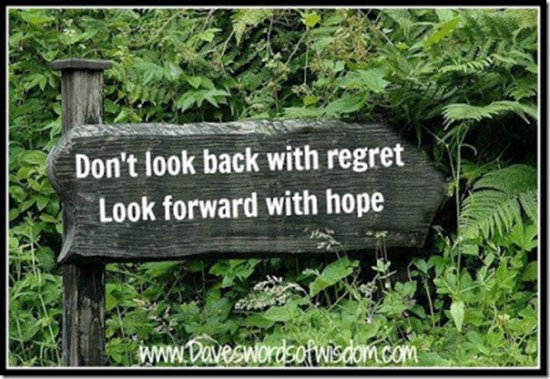 Dont look back with regret