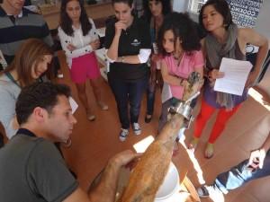 Sylvain Explaining the Parts of la Pata