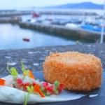 Pastel de Kabratxo Frito con Mayonesa de Cebollino