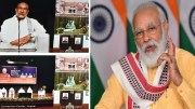 The Prime Minister, Shri Narendra Modi addressing at the foundation stone laying ceremony for Water Supply project in Manipur, through video conference, in New Delhi on July 23, 2020.