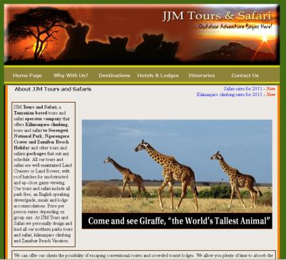 Tourism Theme Sample