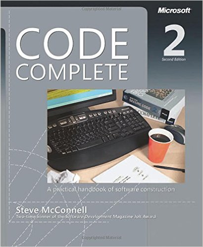stackoverflow - Code Complete A Practical Handbook of Software Construction