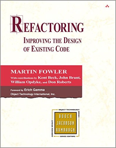 stackoverflow - Refactoring Improving the Design of Existing Code