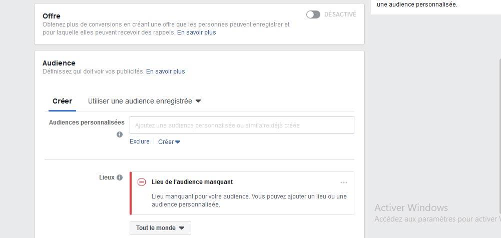 L'audience de vos campagnes publicitaires Facebook