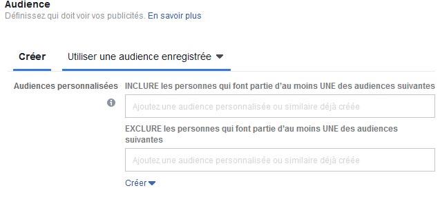 Comment créer une audience sur Facebook avec la publicité