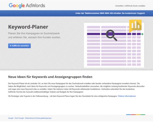 Google Adwords Keyword-Planner