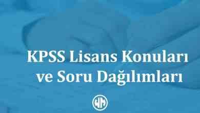 Photo of KPSS Lisans Konuları