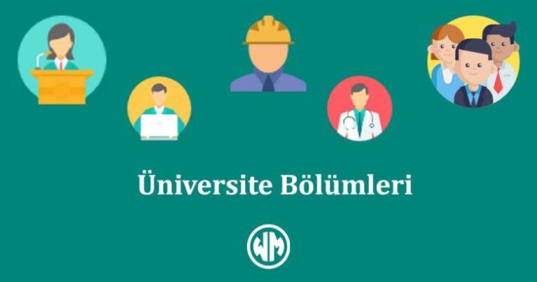 2020 Üniversite Eşit Ağırlık Bölümleri