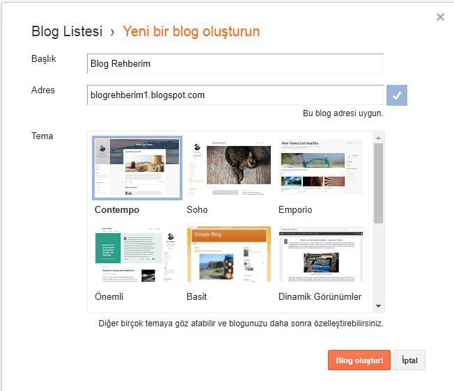 Blogger Blog Adresi