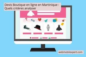 devis d'une boutique en ligne en Martinique