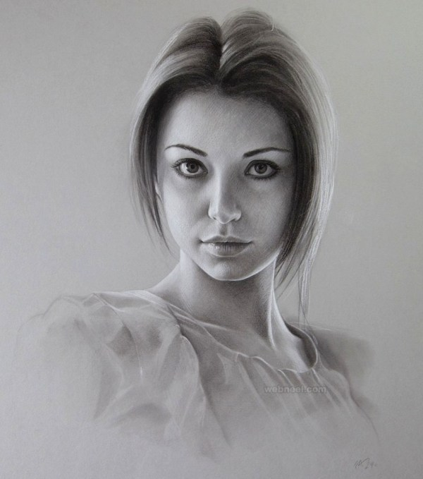 40 Beautiful and Realistic Portrait Drawings for your