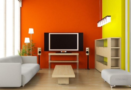 Orange Living Room Color Ideas