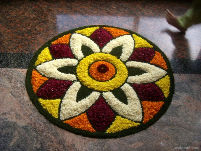 pookalam simple onam