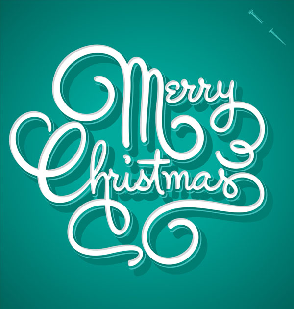 30 Creative Christmas Typography Designs For Your Greeting