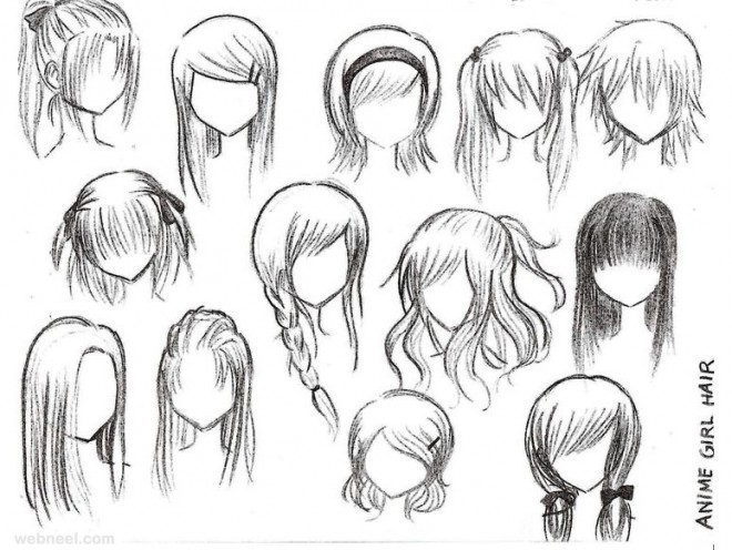 How To Draw Girl Anime Hair Hd Wallpaper Gallery