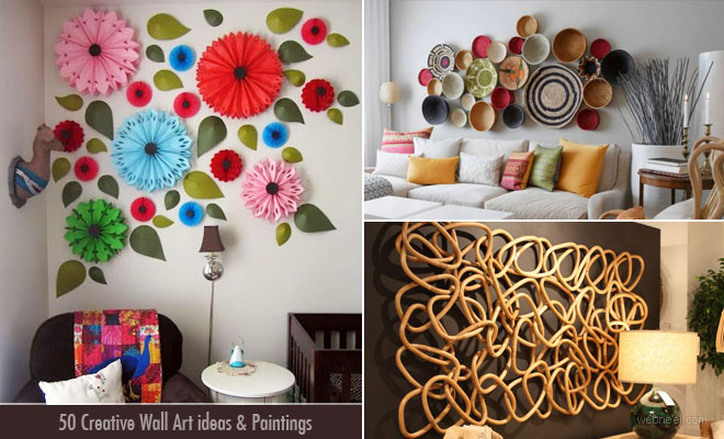 50 Creative Wall Art ideas and Wall Paintings for your ... on Creative Wall Art Ideas  id=15367
