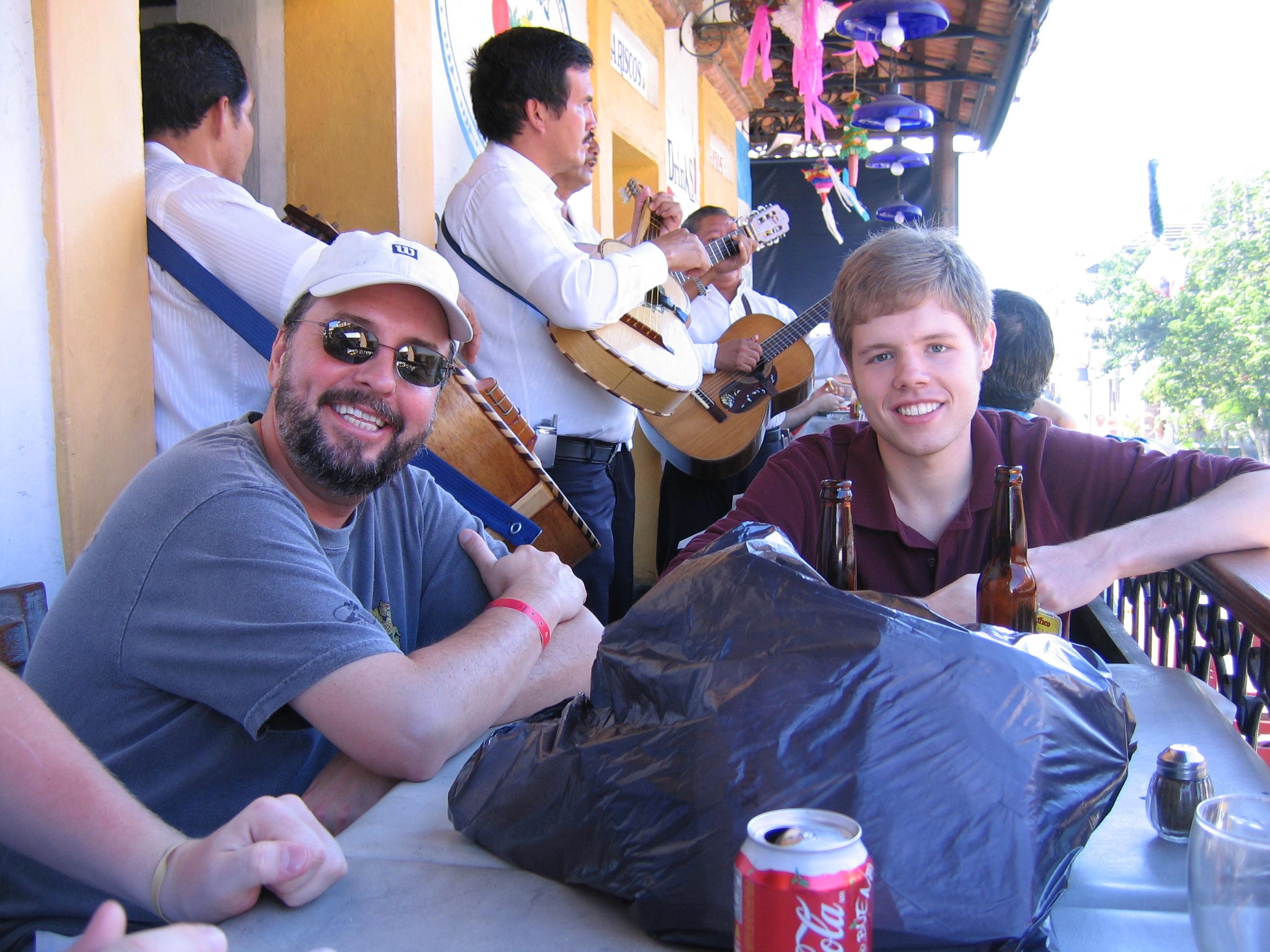Enjoying a mariachi band in Puerto Vallarta