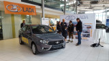 Where are Lada cars sold and how much do they cost outside of Russia?